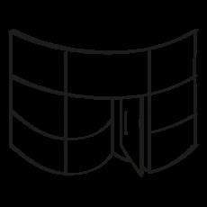 Fachada curva porcelánica